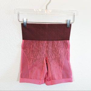 "Lululemon high waisted cycling shorts coral 7"""